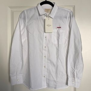 "NWT: Sezane White Shirt ""Mom"""